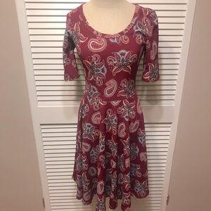 Lularoe Small Fit & Flare Dress